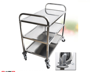 Hotel Restaurant Stainless Steel Fast Food Wine Trolley Equipment