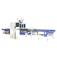 ATC drilling nesting loading and unloading woodworking cnc router center