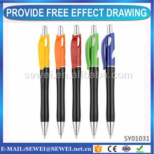 Design You Own Branded Fashion custom logo ball point pens with good quality from Chinese factory