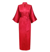 factory produce and wholesale bathrobe solid color plain silk robes