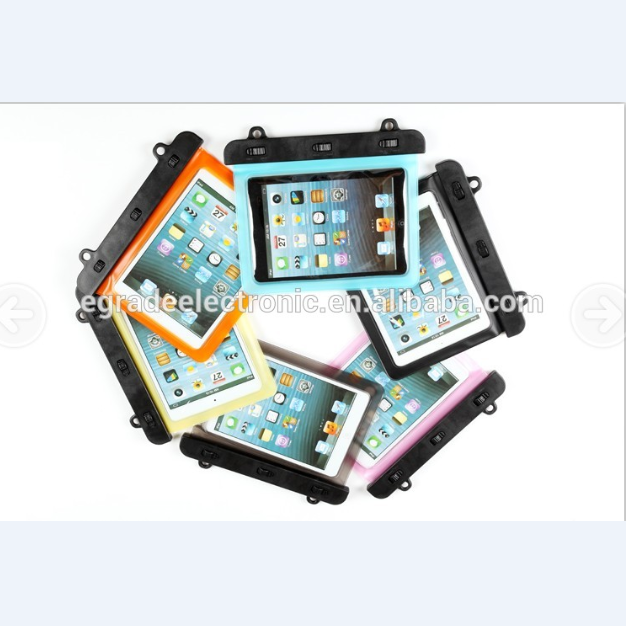 6 Colors Stocked Transparent Waterproof PVC Bag for Tablet PC 7-8 inch ,Waterproof Case Pouch for iPad mini