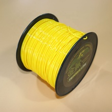 2.4mm .095 inch Round yellow color 3LB spool trimmer line