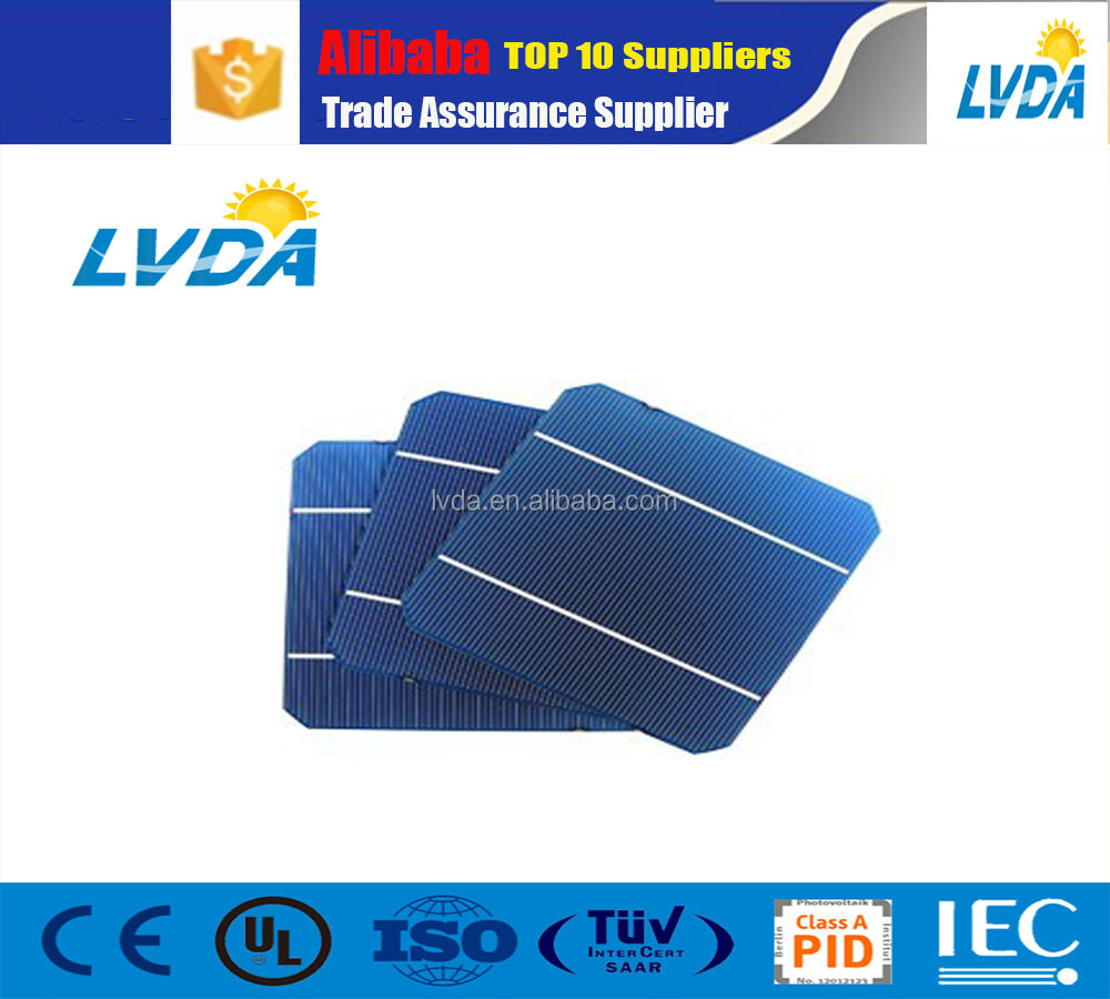 120pcs/lot 125*125mm Size and monocrystalline Silicon Material mono solar cell 2BB mono solar cell for solar panel