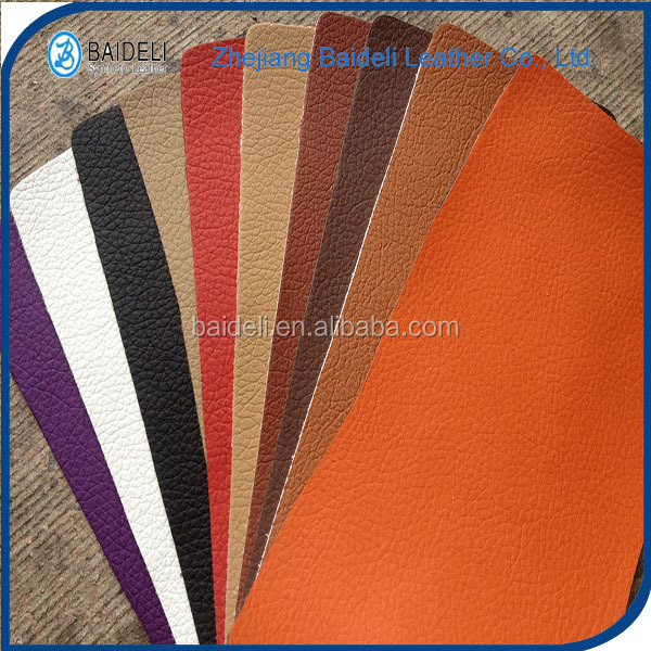 artificial waterproof pu pvc synthetic leather nonwoven fabric for furniture