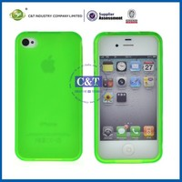 C&T Flexible Silicone Stylish Phone Case for iPhone4 4S