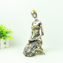 African resin lady ornament figurine home decorations