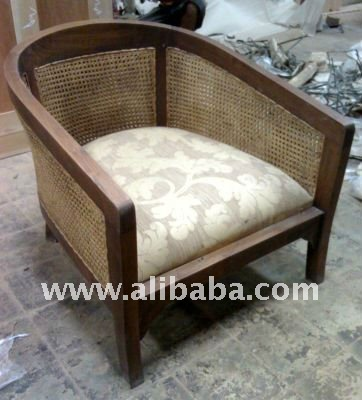 Cane Arm Chair with Cushion - Cane Chair Seat