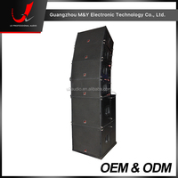 "Q1-2-Way Double 10"" Pro Line Array Outdoor Concert Sound Speaker System"