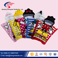 2016 Best selling China factory of kids 100 cotton hooded towel