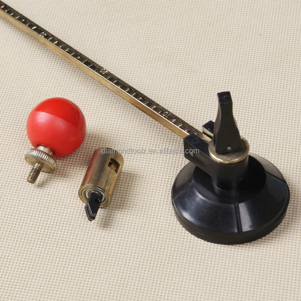 compass suction cup glass circle cutter