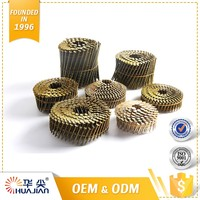 Factory Price Large Coil Wire Nails Hot Dipped Galvanized Cap Roofing Nail