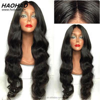 Factory price body wave remy virgin brazilian hair natural color all hand tied full lace human hair wigs