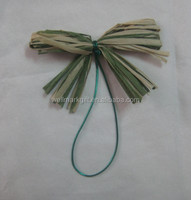 Hot Sale High quality paper raffia ribbon pre-made bow