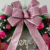 50cm Pink Christmas Ball Bow Decorated Plastic Christmas Wreath