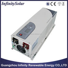 Solar inverter with charger,easy to install and friendly operation,Mains Charge current Adjustable
