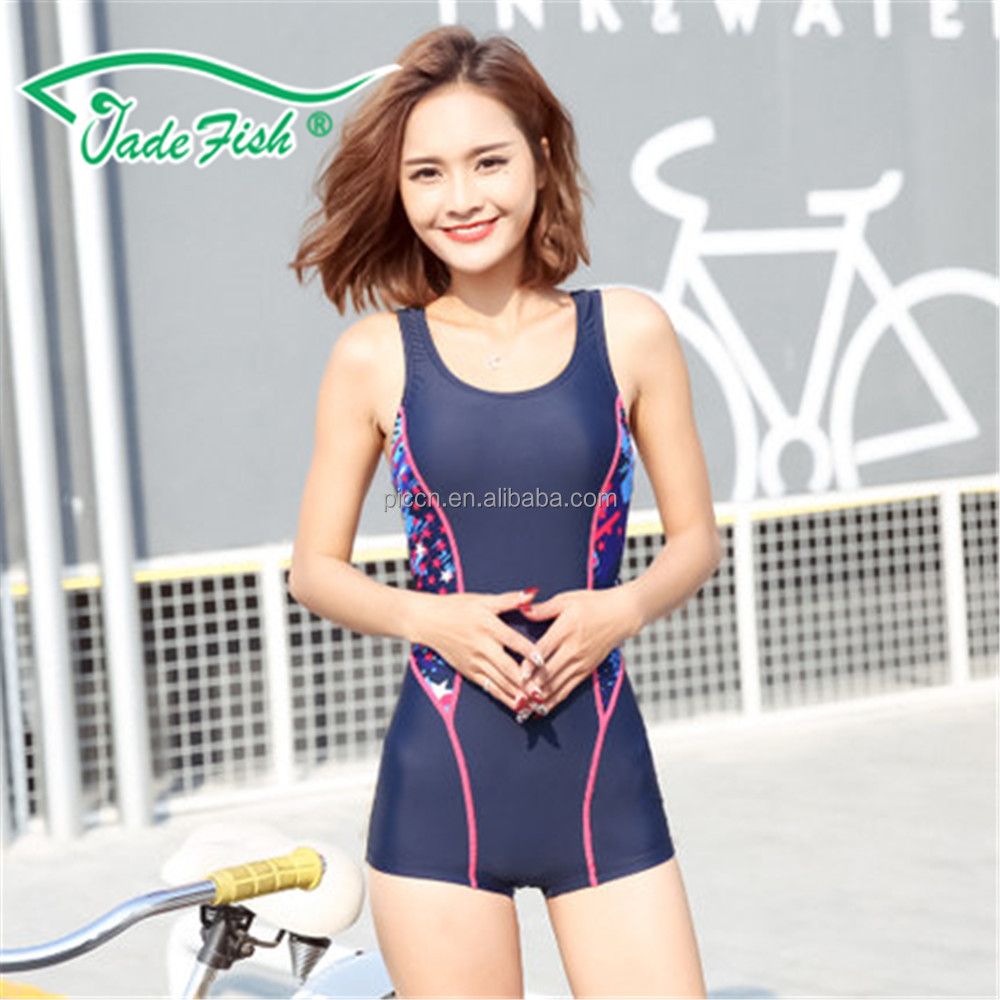 fitness simple professional onepices super soft swimming wear 21017 New Fashion Style swimsuit for femal