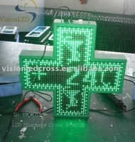 LED pharmacy cross green color