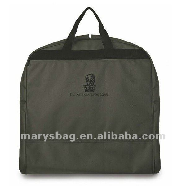 600D Nylon Deluxe Garment Bag with Self Piping and Inside Binding