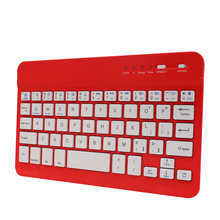 Red Color LED bluetooth wireless portable arabic keyboard for sumsung smart tv