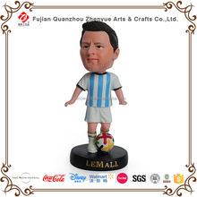 Resin sport player Messi bobble head