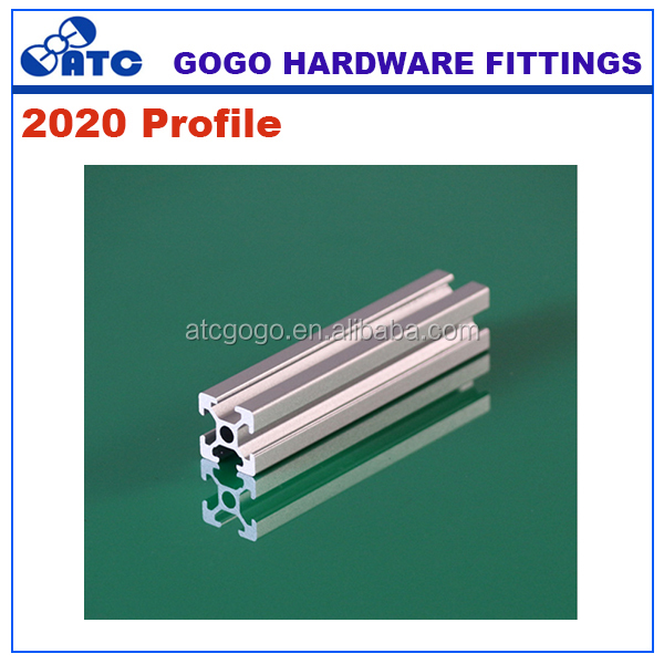 20 series to make doors and windows aluminium extrusion profiles