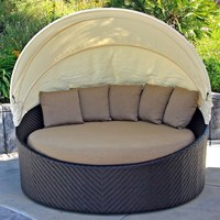 wholesale china Outdoor Beach round chaise lounge chair