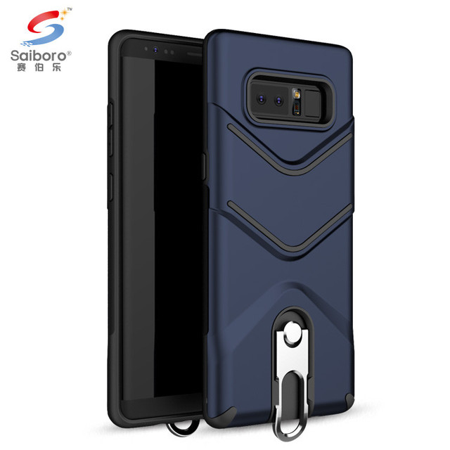 Metal zipper head kickstand mobile phone case for samsung galaxy note 8 back cover