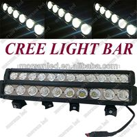 "Guangzhou factory 17"" High power 100W offroad car single row led spot flood car lamp, side middle bracket roof light bar"