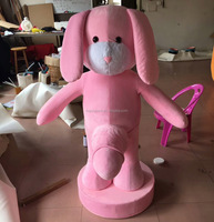 pink dog mascot costume for Sex Culture Festival
