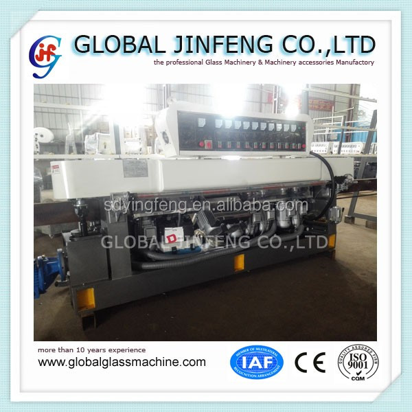 JFE-1043 PLC control 10 motors glass straight line edging and polishing machine with CE good quality