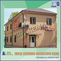Fire proof decorative wall cladding panel for steel structure prefabricated houses, buildings, villas