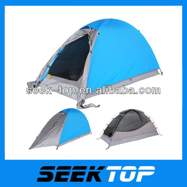 Outdoor Camping Four Seasons Double Layer 1 Man Military Tent