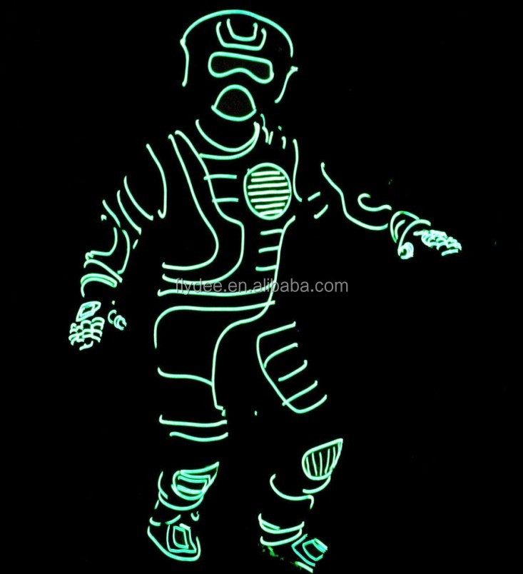 Wholesale EL Wire forJumpsuit Light Costume led for halloween ...