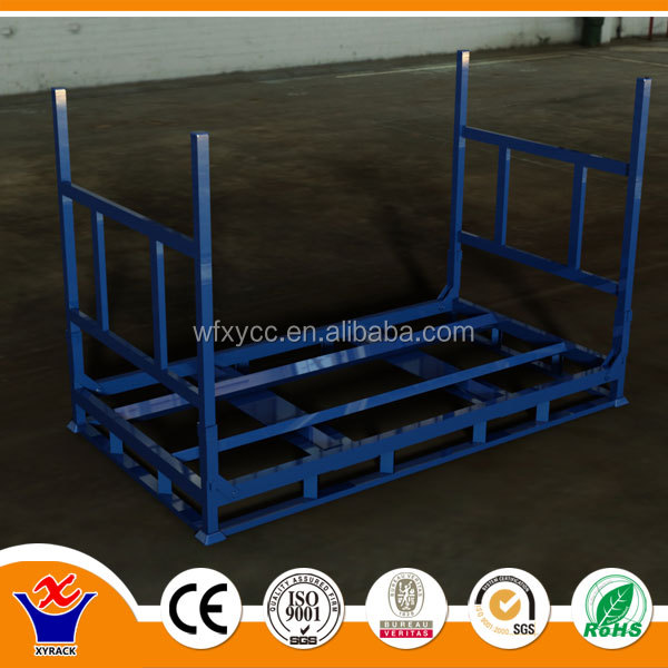 folding commercial stacking warehouse tire storage metal rack