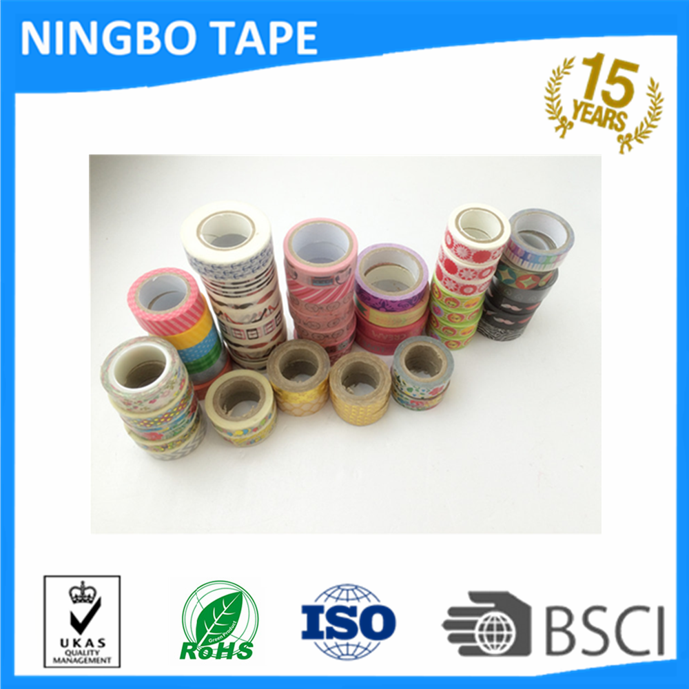 Custom washii tape,Japanese washii tape,assorted design washy tape