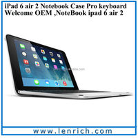LBK205 For IPad Air 2 Aluminium Keyboard Cover Case Stand Integrated Bluetooth Keyboard