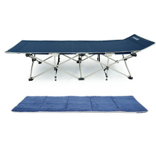 Lightweight heavy duty folding camping bed/military camping cot with 600D carry bag and pad