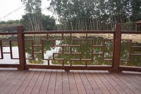 outdoor carbonized solid bamboo house