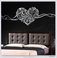 High Quality Islam Heart Design Eco-Friendly Waterproof Dining Room Art Decor Wall Stickers