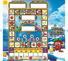 Happy fruit mario machine acrylic fruit king mario game board custom acrylic for mario machine