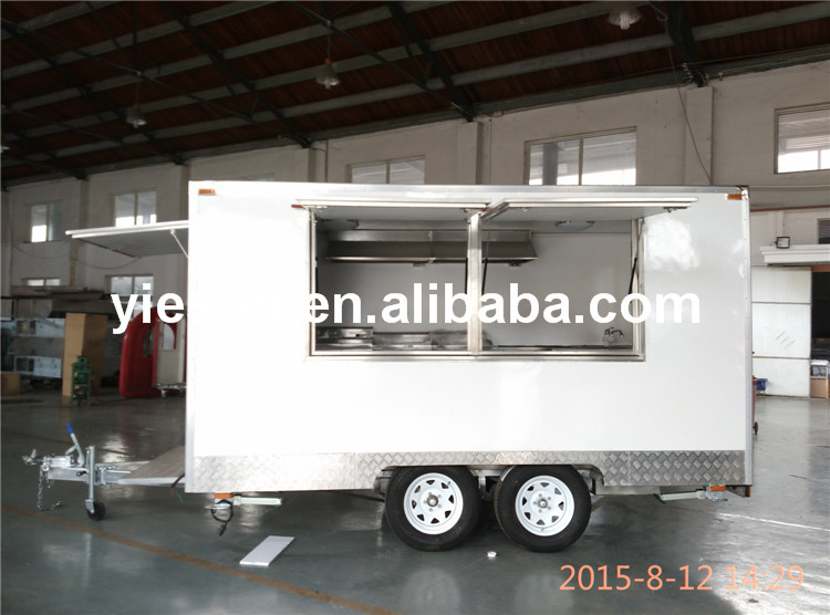 SHANGHAI LOCATION SUPPILRE inside Chapati roti food truck machine/Tractor drawbar food truck for sale/Mobile Food Truck Food