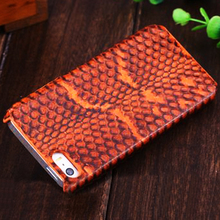 Newest Snake leather back cover Case For iphone 5s, leather case for iphone 5s