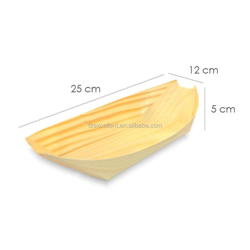 New Trending High Quality Disposable Wood Serving Food Plate Wholesale