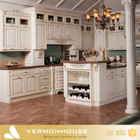 Ready to assemble Solid Wood Large Kitchen Cabinet With Island