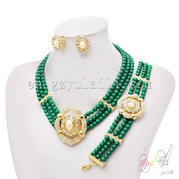 Dubai 1 gram gold jewellery wholesale beads jewelry set imitation jewellery