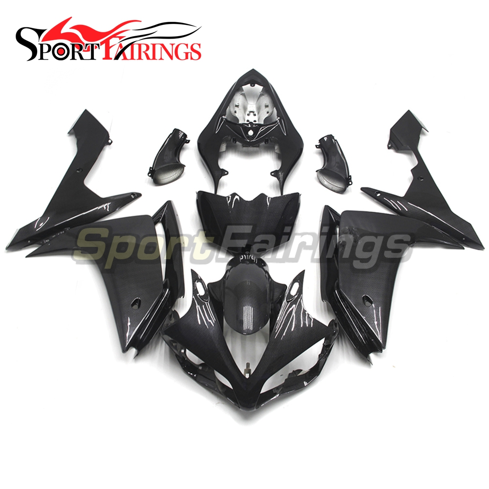 Full Injection <strong>Fairings</strong> For Yamaha YZF <strong>R1</strong> 07 <strong>08</strong> ABS Plastic Injection Motorcycle Kit Fake Carbon Fiber Body Kits