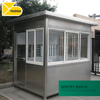 Outdoor Sentry Box Parking Stainless Steel Security Guard house