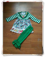 persnickety remakes clothes for children 2015 elepahnt outfits new style adorable clothing sets green ruffle pants hot sale sets