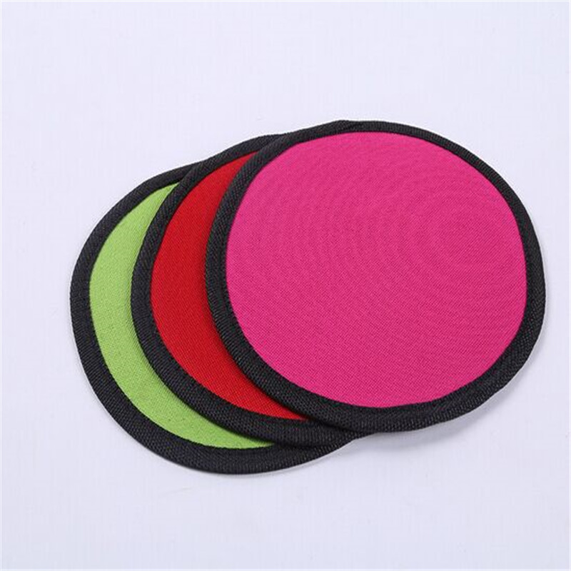 Wholesale promotional custom soft nylon fabric dog frisbee