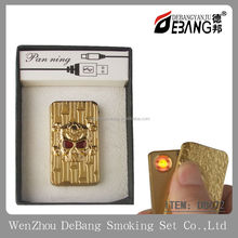 Mini Icon Pattern Portable USB Powered Environment Electronic Windproof Flameless Cigarette Ciga Lighter